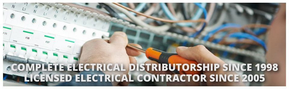 Complete Electrical Distributorship Since 1998 Licensed Electrical Contractor Since 2005 | electrician working on fuse box